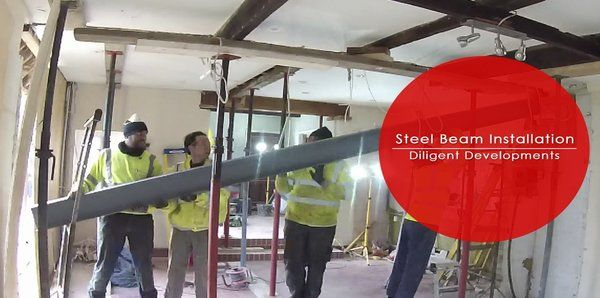 RSJ Steel beam Installation | case study 2