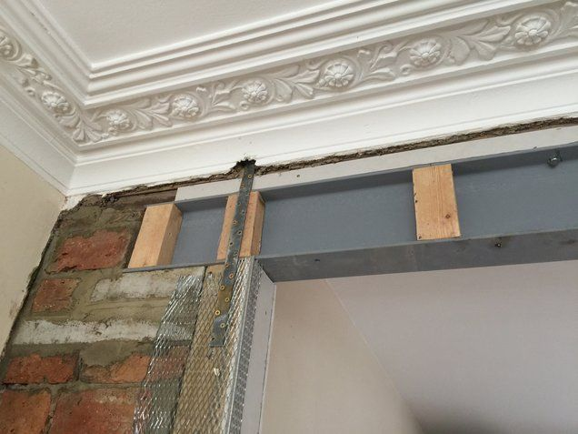 RSJ Steel Beam Installation in South London | Steel beam fitters | Wall removal | RSJ steel beams