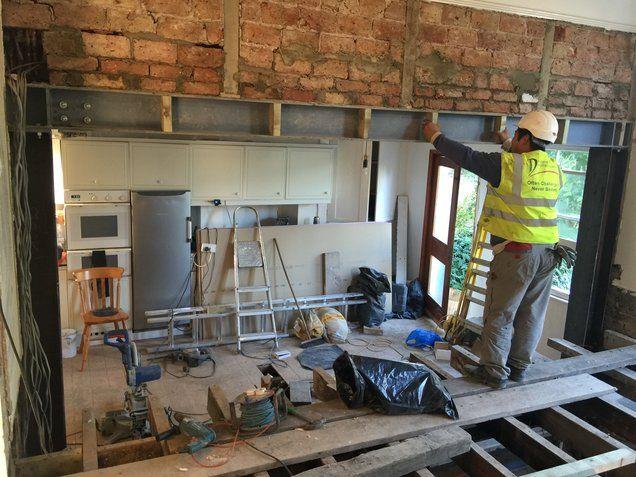RSJ steel Beam Installation Sydenham