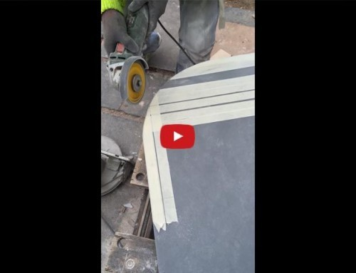How To cut a rounded edge on composite kitchen worktop
