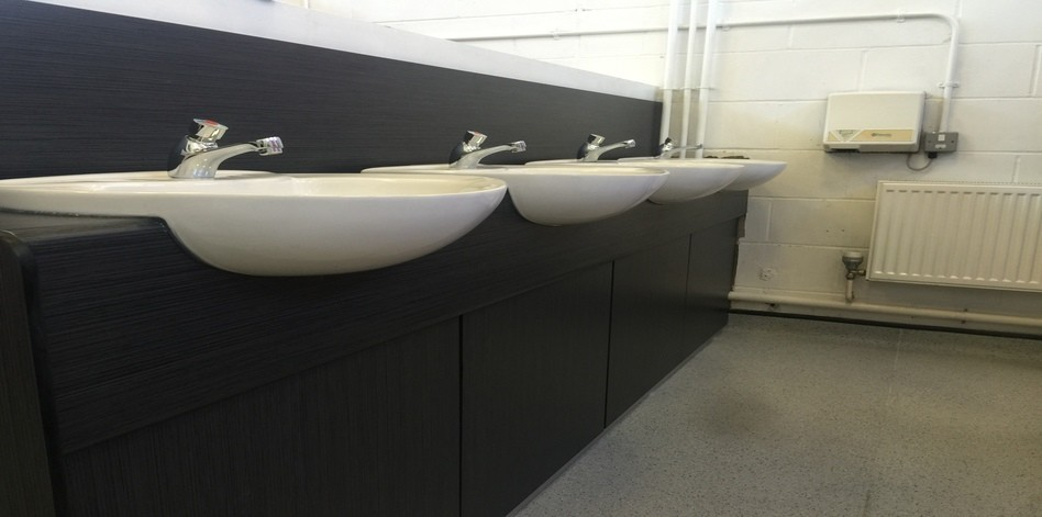washroom cubicles and toilets