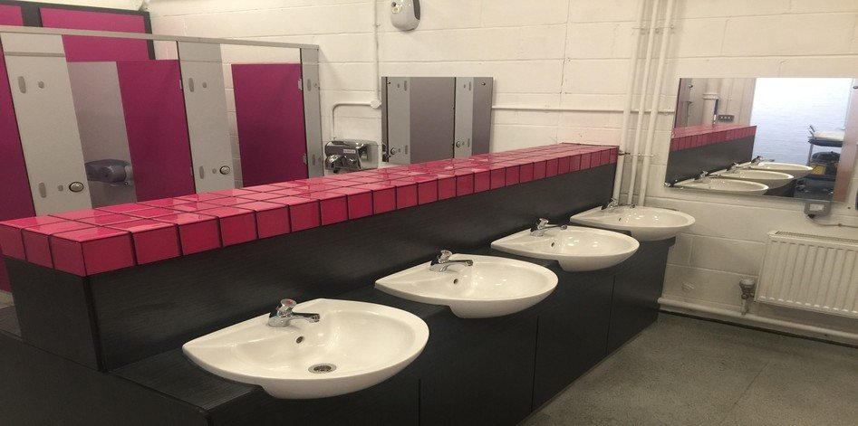 Washroom Cubicle Case Study Cuckoo Hall Academy London