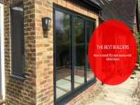 Steel beam installation with Bifold doors