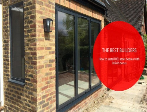 Steel beam installation with Bifold doors |Case study
