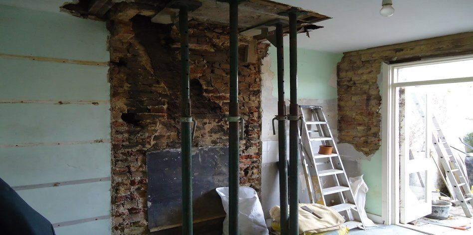 Chimney Breast Removal with Steel Support