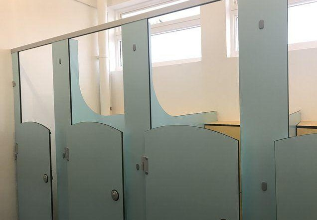 Washroom cubicles installation south london