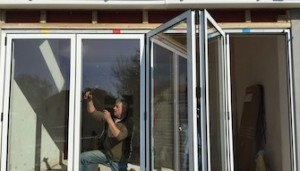 Supply and installation of external bi fold doors.