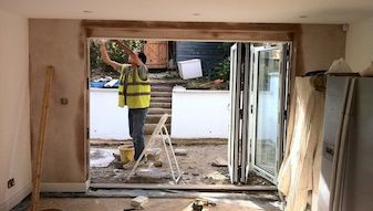 Supply and installation of external bi fold doors.- Brockwell Park, Lambeth SE24