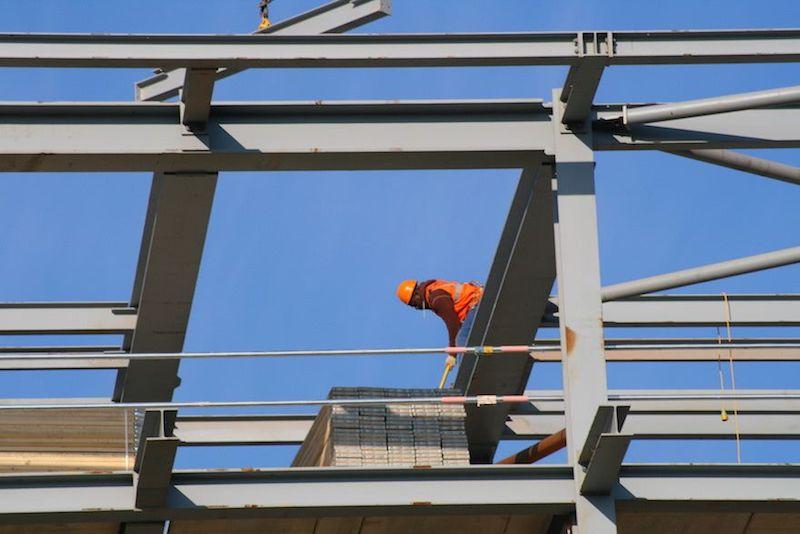 installing steel beam load bearing wall