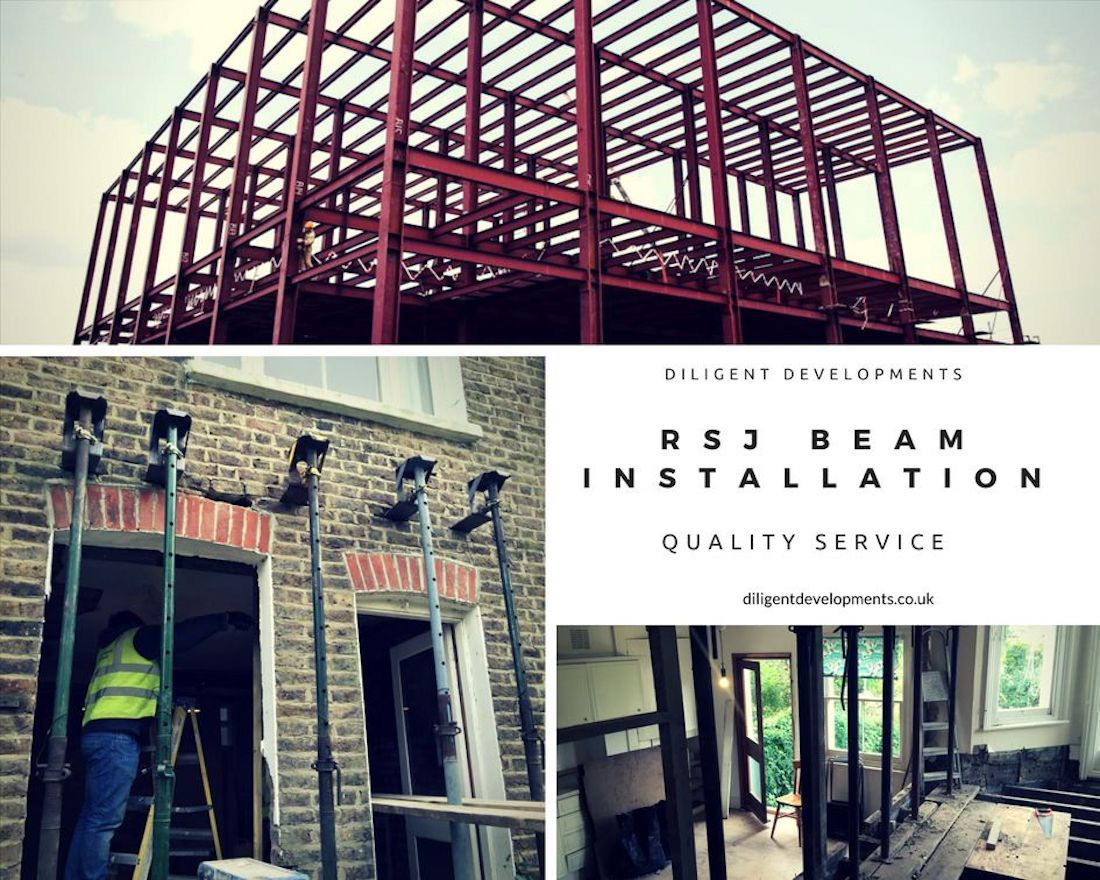 steel beam installation in London