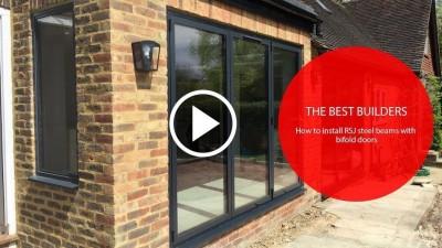 How To Install RSJ Steel Beams With Bifold Doors