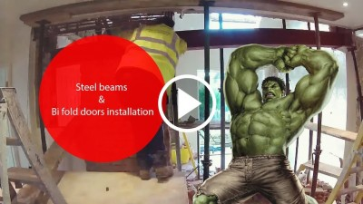 How to remove load bearing walls with RSJ steel beams