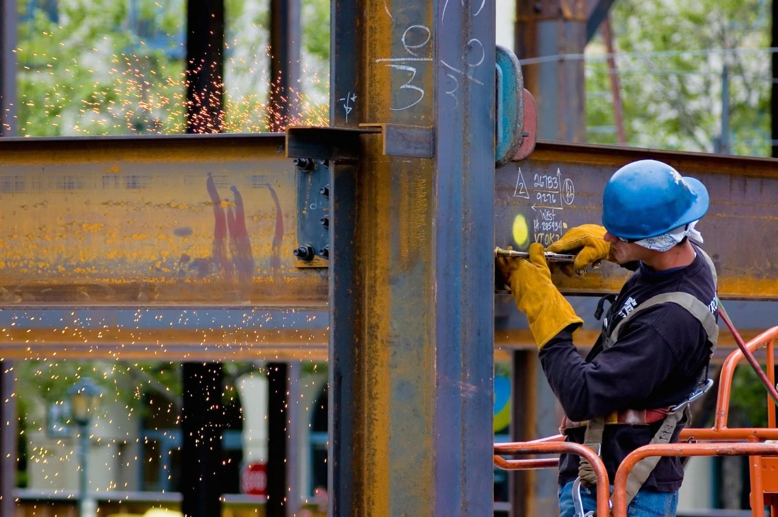 RSJ Steel beam Installation