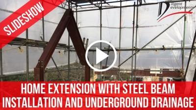 RSJ Steel Beams Installation Underground Drainage