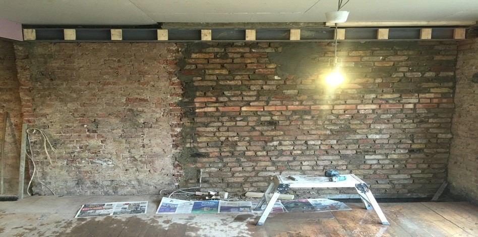 Chimney Breast Removal with steel support - Lewisham
