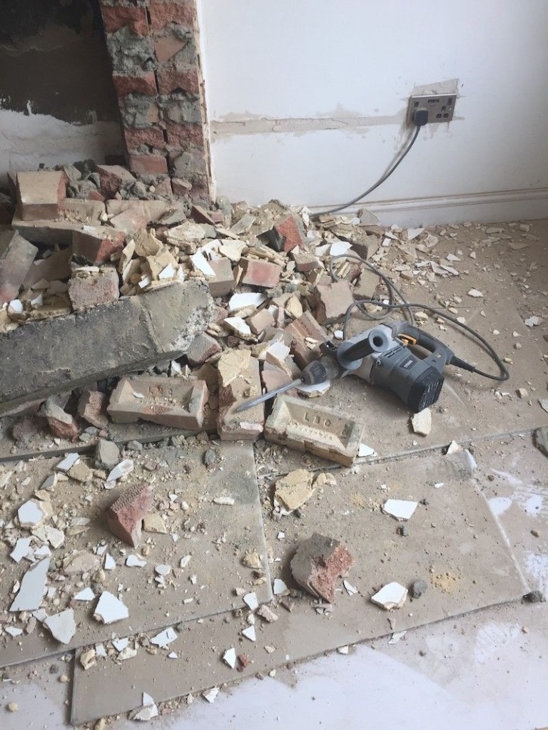 Removing the chimney breast at ground level problems