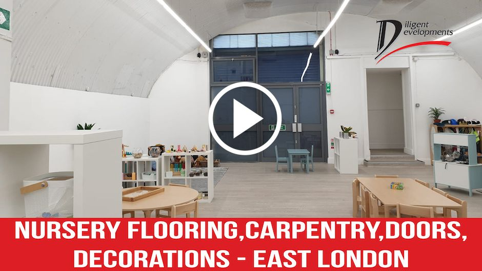 Case Study – Nursery Flooring, Carpentry, Doors, Decorations- East London