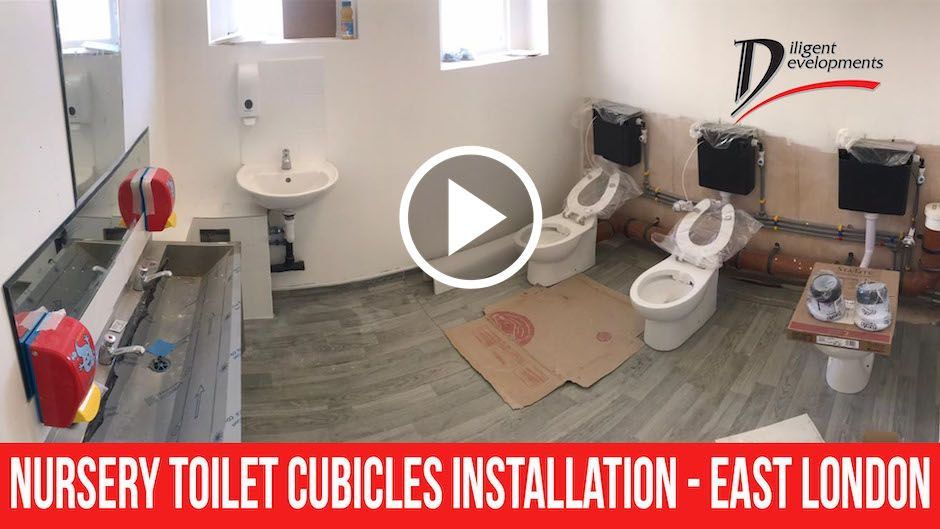 Case Study – Nursery Toilet Cubicles Installation – East London