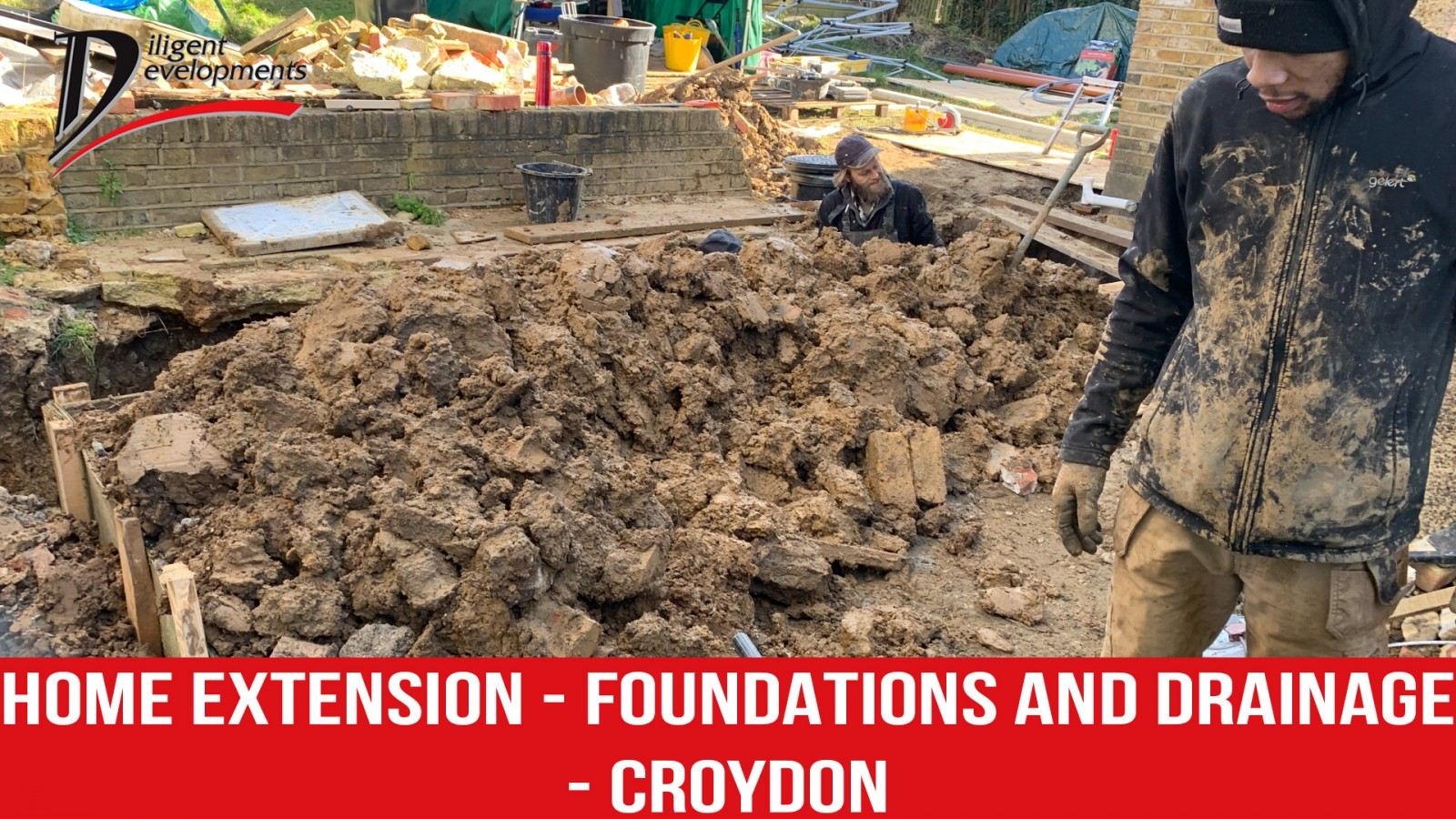 Home extension | Foundations and Drainage in Croydon from Diligent Development Builders