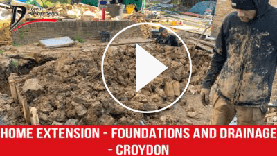 Home extension | Foundations and Drainage in Croydon Video Thumbnail