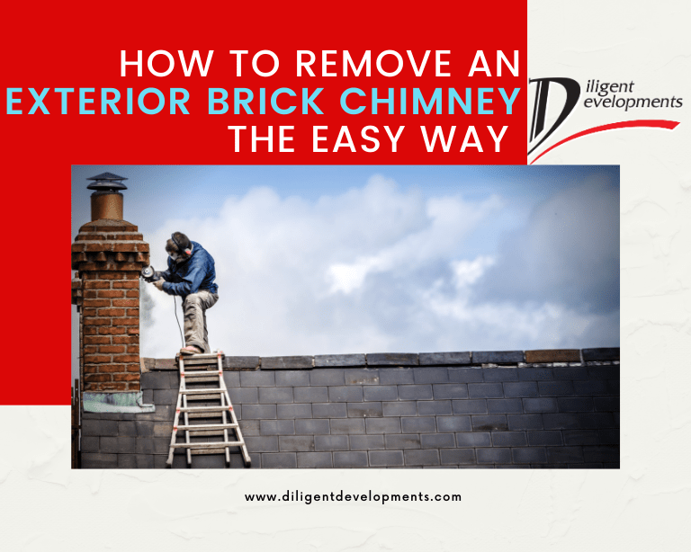 How to remove an exterior brick chimney the easy way or hire someone in London to do it for you