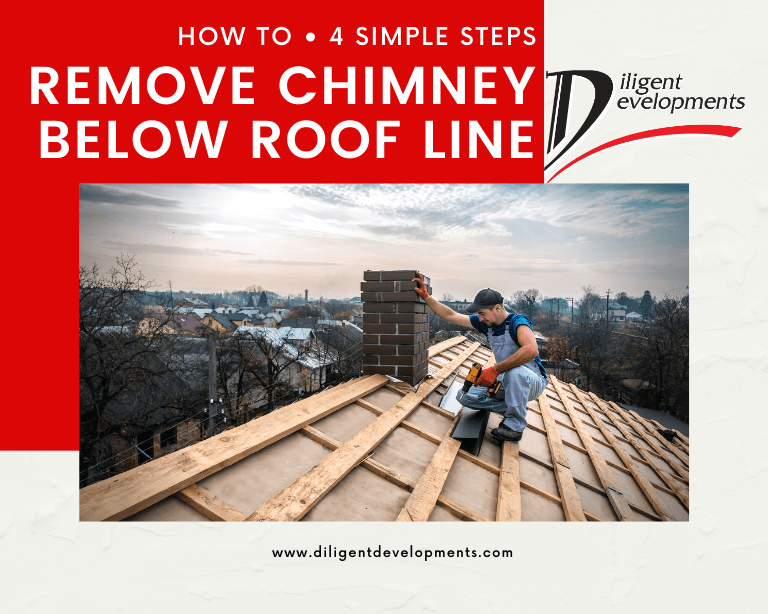 How to remove chimney below roof line in 4 simple steps blog post