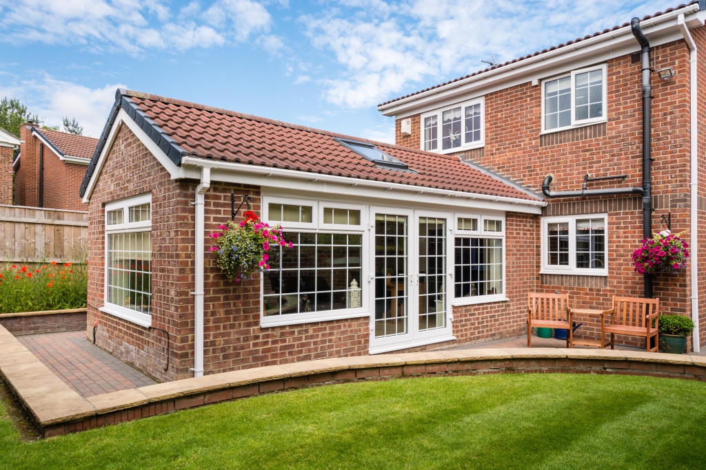 single storey rear extension detached house