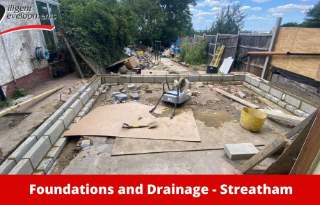 Home extensions foundations and drainage in Streatham London