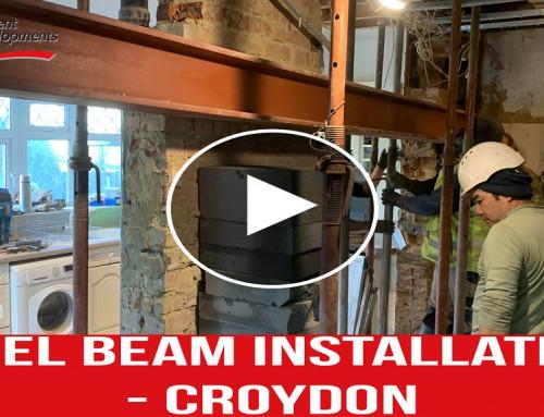 Steel Beam Instalment – Croydon