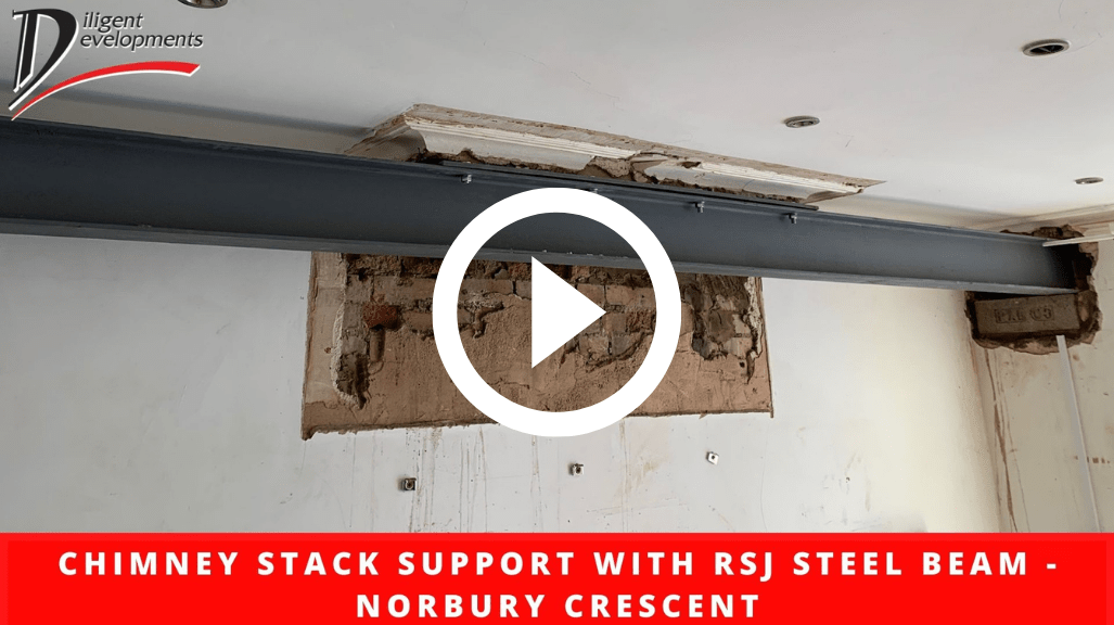 Chimney Stack Support with RSJ Steel Beam - Norbury Crescent